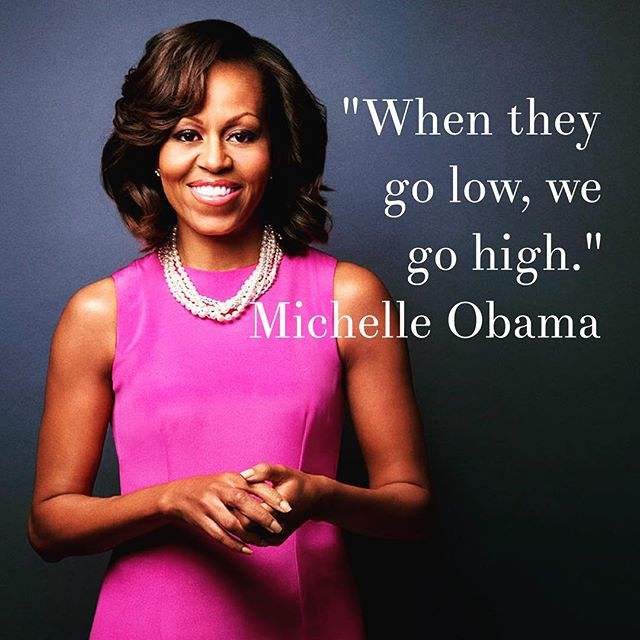 Always go high. Let it be your default. #quotes #michelleobama #motivate<br>http://pic.twitter.com/nniR59LYMw