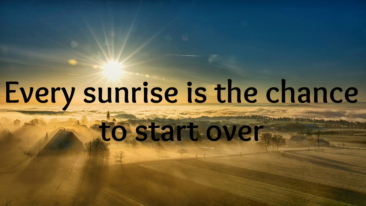 #God gives you the #gift of a #newstart every morning. #SundayMorning #beginnings #HeavensWay #Angels #Believe #truth #lifequotes<br>http://pic.twitter.com/i7aa9wgy7s