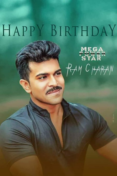 Happy Birthday MegaPowerstar Ram Charan . Most sensible actor from our Mega legacy.
