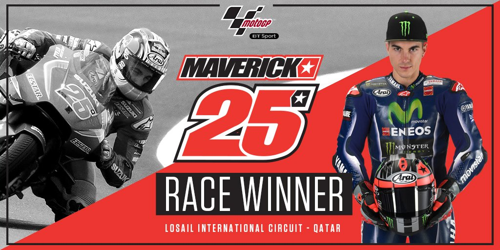 THERE'S NO STOPPING TOP GUN! @maverickmack25 IS YOUR #QatarGP WINNER! 🇶🇦🏁👊