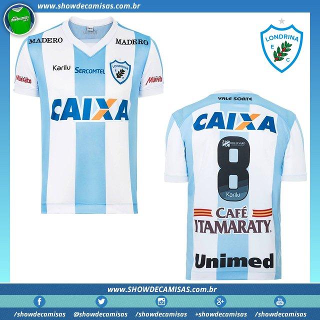 Veja a camisa titular feita pela  Karilu que o  Londrina  LondrinaEC está  usando no Campeonato  Paranaense em 2017. ... 3a374e96c50ee