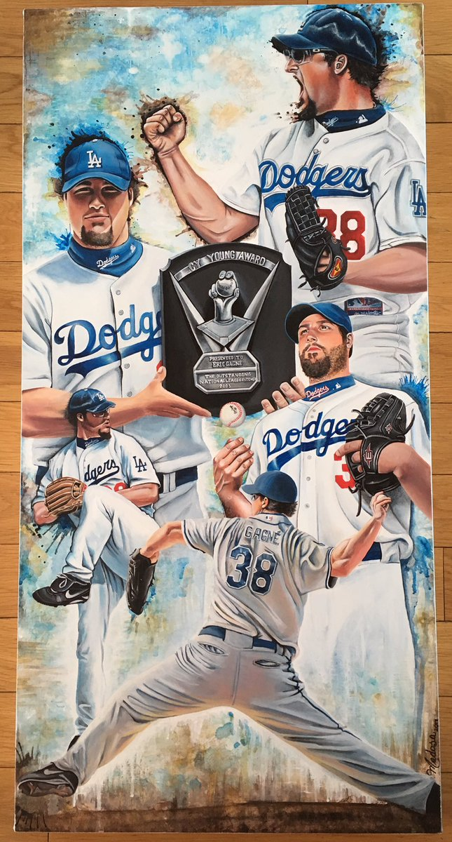 Finally done with my Eric Gagné for thé @ExposFest #Dodgers #LosAngeles #gameover #baseball #LA #mlb #pitcher #canada #exposfest play all<br>http://pic.twitter.com/yARJob5bh4