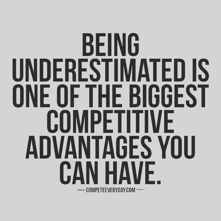 Have quiet confidence #ThinkBIGSundayWithMarsha #underestimated #quote #success #Leadership #Competition #Advantage <br>http://pic.twitter.com/SyEI4OkuCs