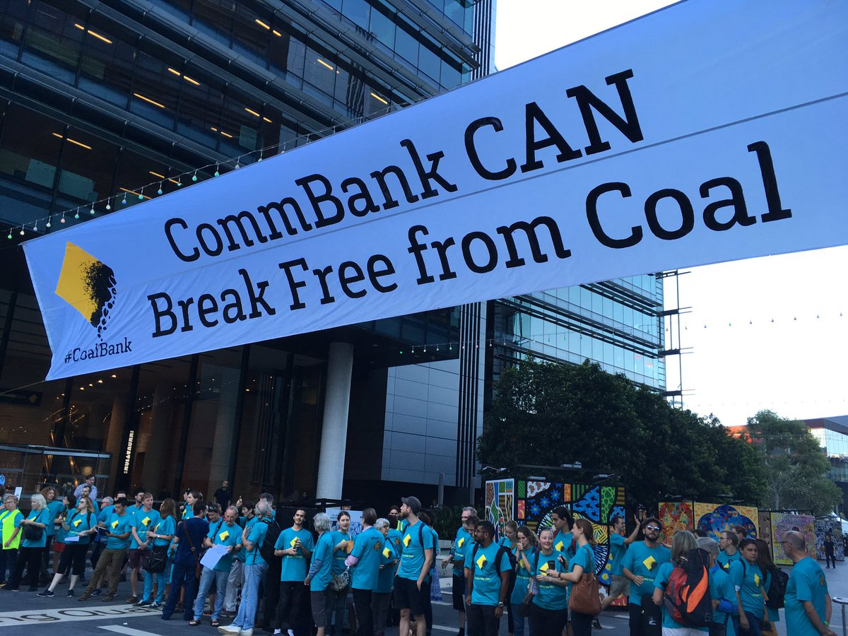 Great to be out this AM talking about how CommBank can #breakfree from #coal @GreenpeaceAP<br>http://pic.twitter.com/QSi8NCMGrc