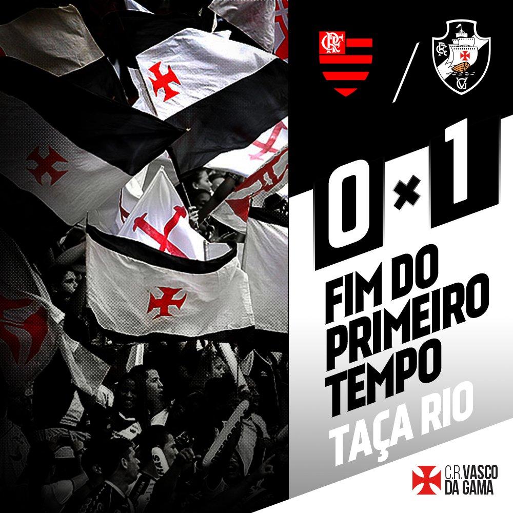 Fim de primeiro tempo no Mané Garrincha. Flamengo 0x1 Vasco. #FLAxVAS