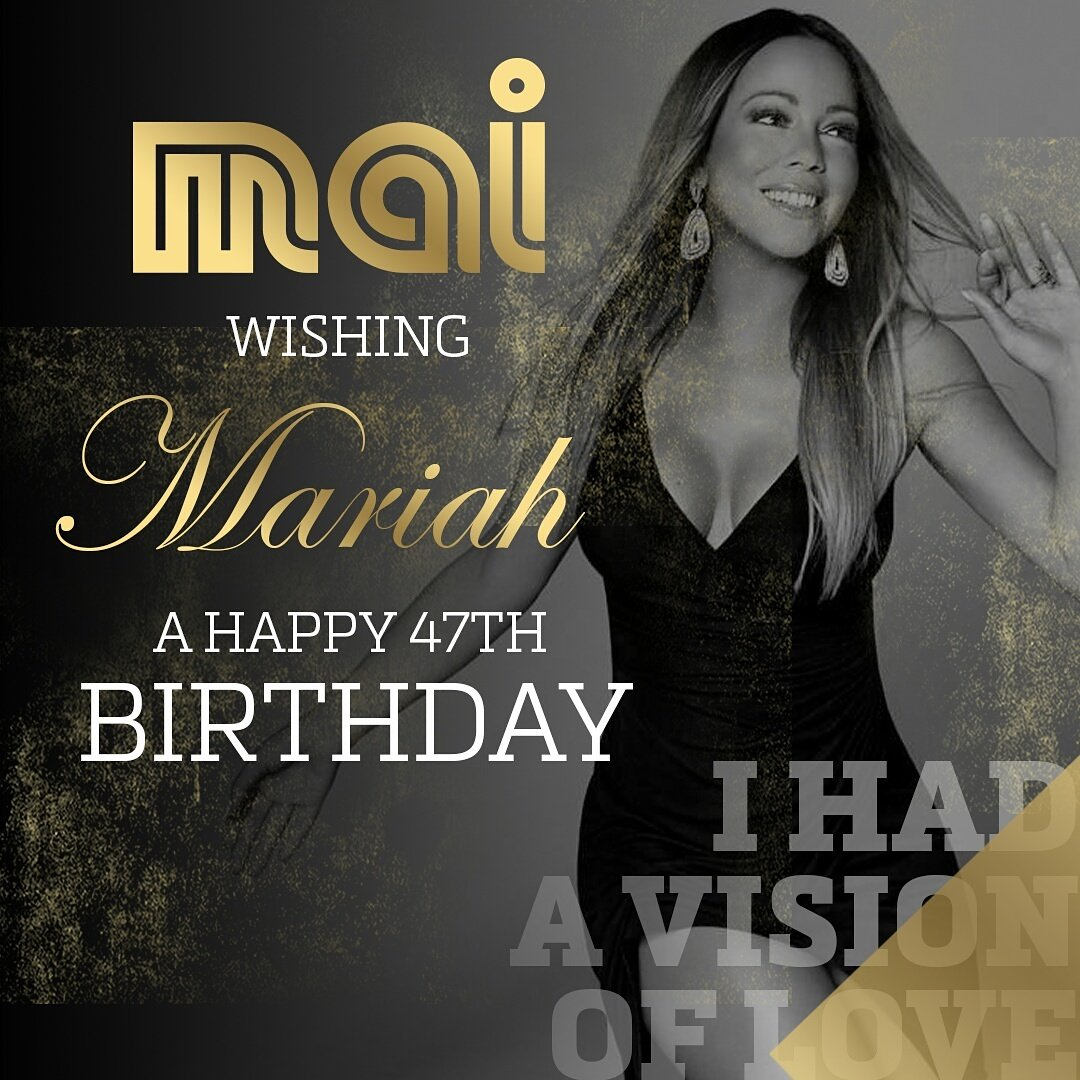 Happy birthday Miss Mariah Carey 47 today and still looking
