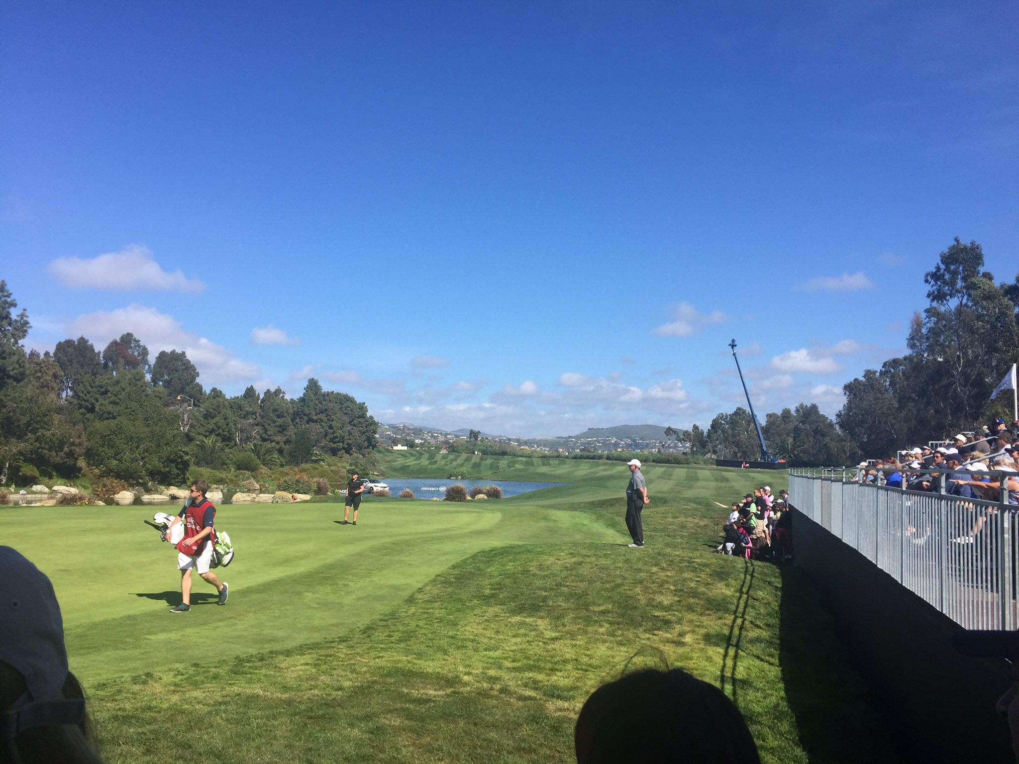 Final round at the #kiaclassic ...can't get over how gorgeous this course is....@ParkHyattAviara @fox5sandiego https://t.co/VPyHxoLXpJ