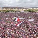 Photo: protest in Yemen today   Background: https://t.co/QskBDRjYg9