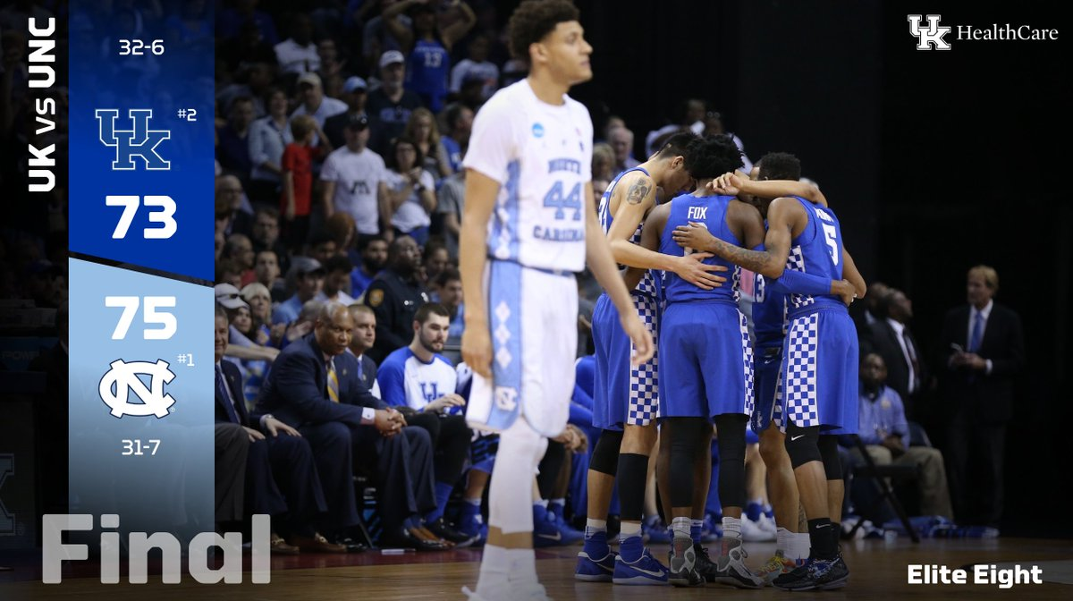 Great game. We battled until the end. Great group. Great team. Congrats to UNC.