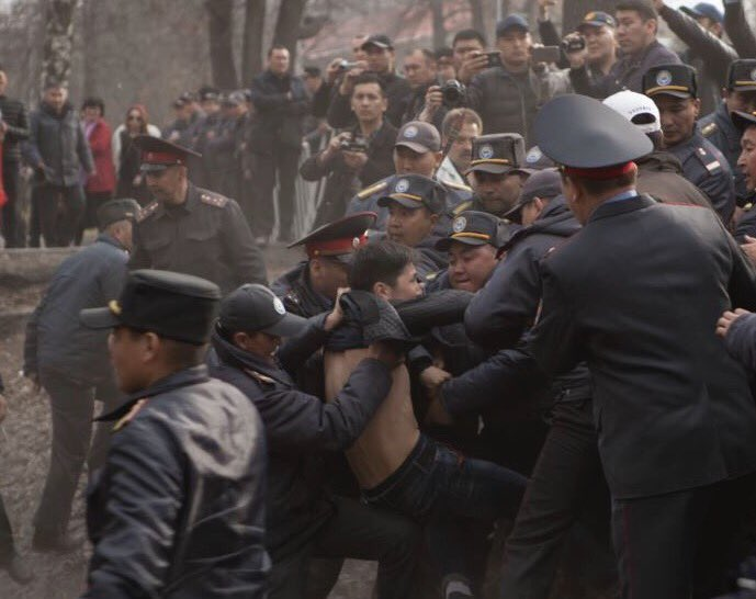 The Kyrgyz get the nod for the weekend\'s most cinematic response to protests.