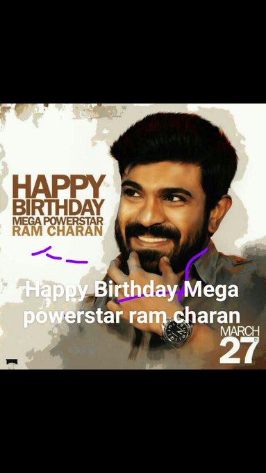 Happy Birthday Mega power star Ram charan