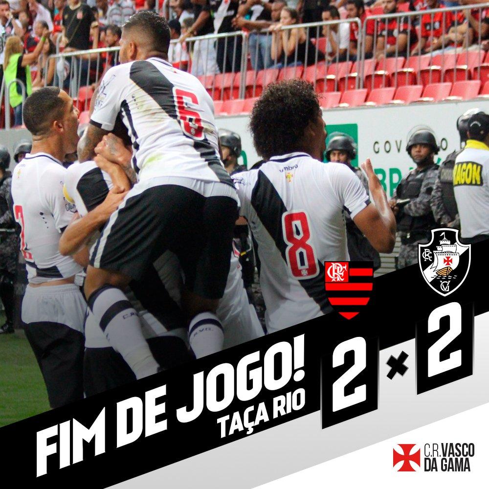 FIM DE JOGO! Com um a menos, Vasco luta até o fim e empata com Flamengo no Mané Garrincha. #FLAxVAS