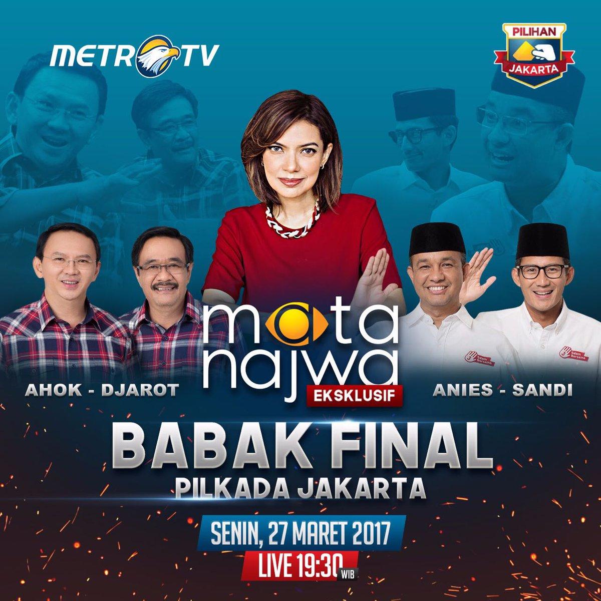 Mata Najwa Bikin Konsep Debat Ahok-Anies Serasa Hillary-Trump https://...
