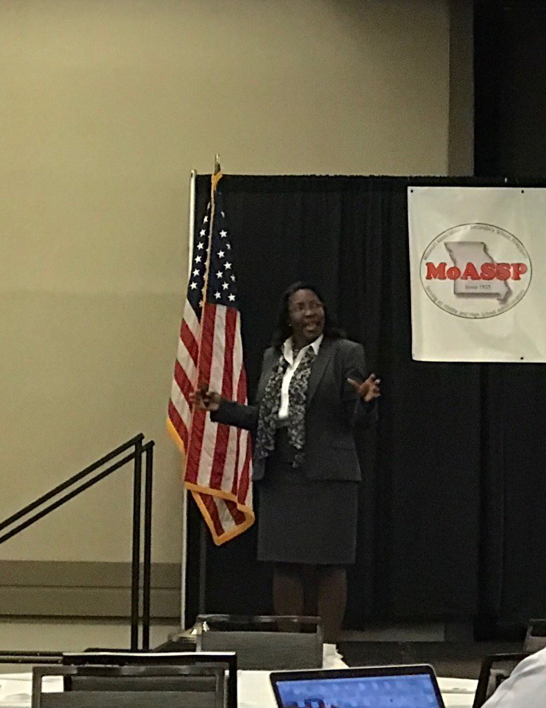 """""""The farther you are from schools, the less you know about them!"""" Dr. Tiffany Anderson @MOASSP @SWMOASSP #MOSC17"""