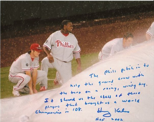 Happy birthday, Harry Kalas.  I\ve shared this many times but the inscription never gets old.
