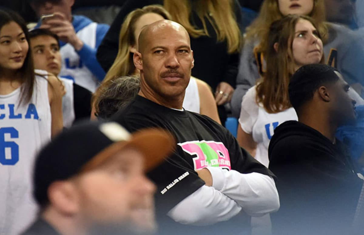 Video of LaVar Ball playing basketball surfaces, and it doesn\'t look like he\'s very good.