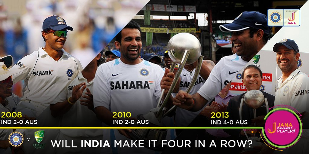 Since suffering a 2-1 loss to Australia in 2004, India has won 3 series at home in a row!