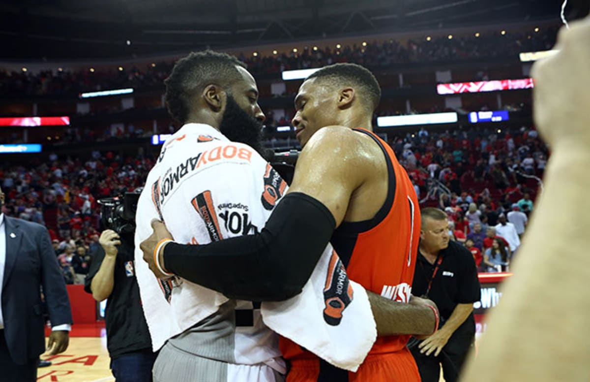 Houston Rockets use Drake meme to mock Russell Westbrook\'s triple double in a loss.