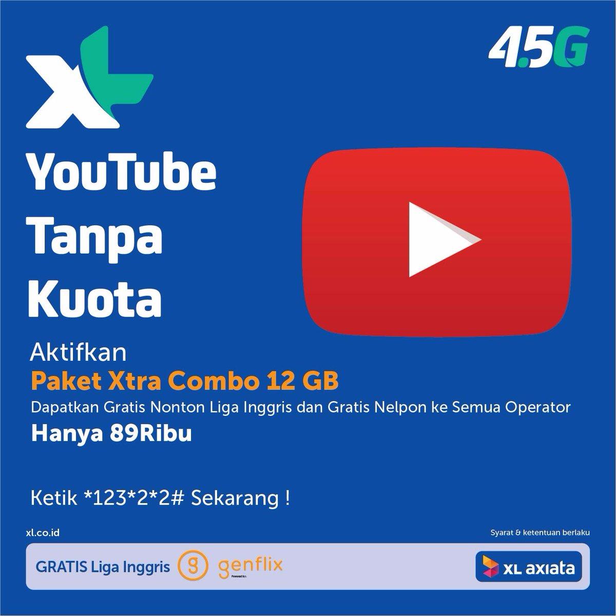 Xl Perdana 4g Lte Xtra Combo 18gb Gratis Unlimited Youtube Nelpon 60 Ter 31gb Kuota 31 Gb 18 Di 3g Dan 12 1 Source Kartu Paket Top Xlyoutubetanpakuota