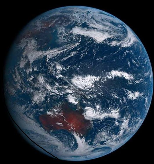 This shot from space shows the sheer size of #CycloneDebbie @ABCemerge...