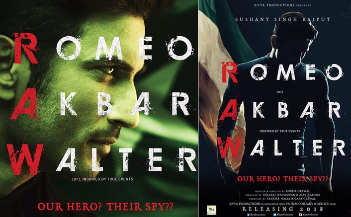 First Look Posters of Romeo Akbar Walter starring Sushant Singh Rajput