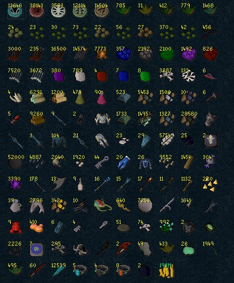 loot from a week of pet hunting, got 9 pets and the money is from 2 aod splits this morning =]