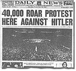 Image result for 40000 roar protest against hitler