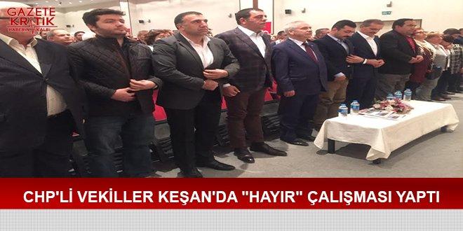 CHP'Lİ VEKİLLER KEŞAN'DA 'HAYIR' ÇALIŞMASI YAPTI https://t.co/QHlvnEM0...