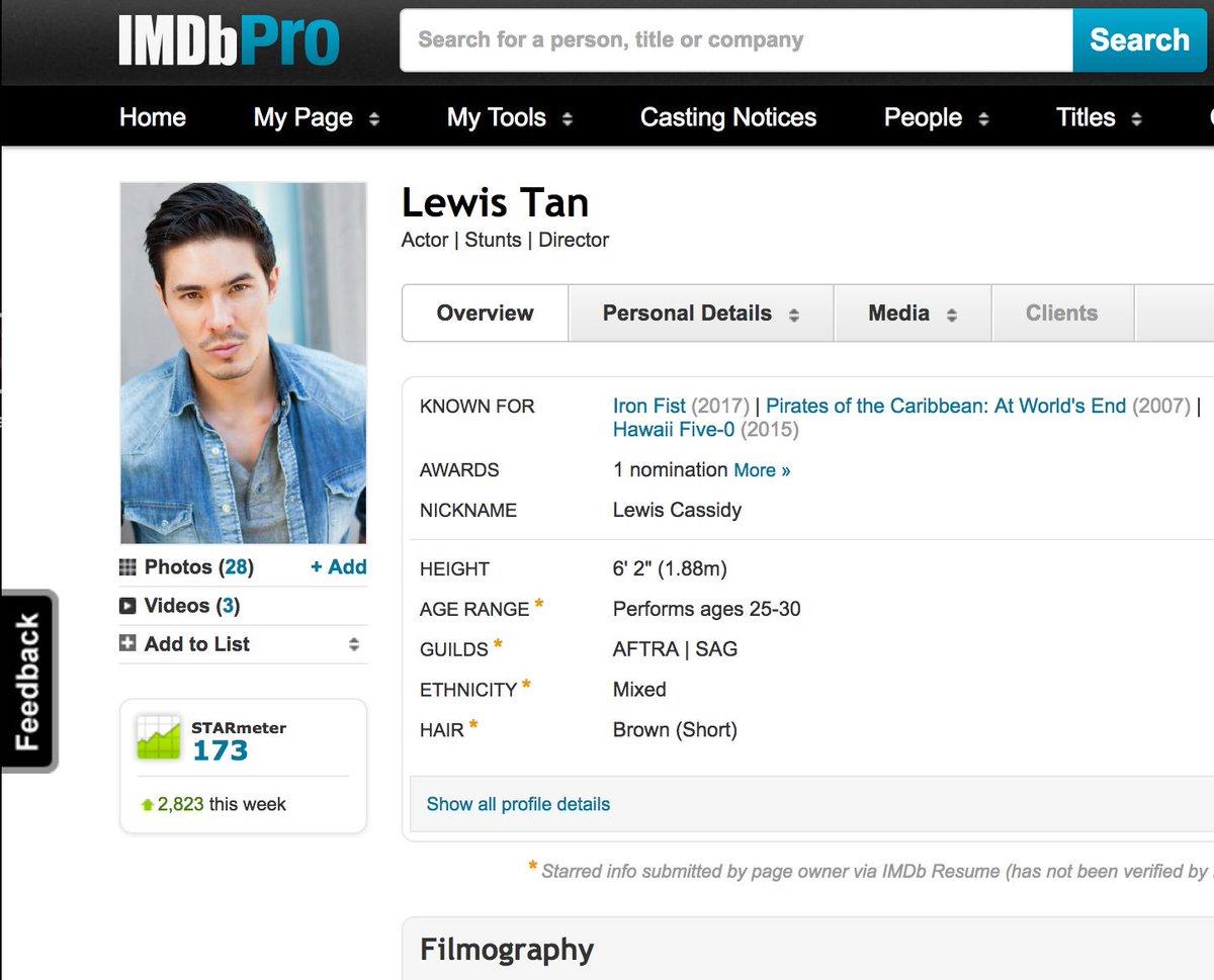 Lewis Tan on Twitter: \