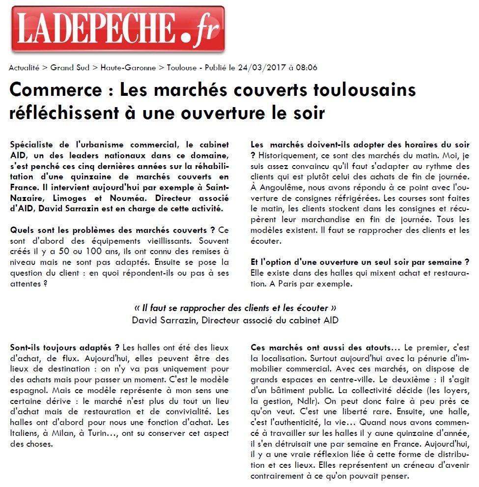 #Commerce : Les #marchés couverts toulousains réfléchissent à une ouverture le soir ! L'avis d&#39;expert d'AID Via :  http:// bit.ly/2nmhEPS  &nbsp;  <br>http://pic.twitter.com/Ire84kNatw