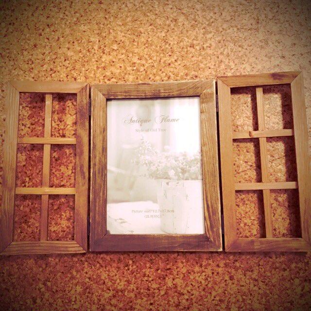 test ツイッターメディア - フォトフレームと窓格子×2と蝶番で窓枠風オブジェ完成? #セリア  #100均DIY  #なんちゃって窓 https://t.co/6XzWS7IbLV