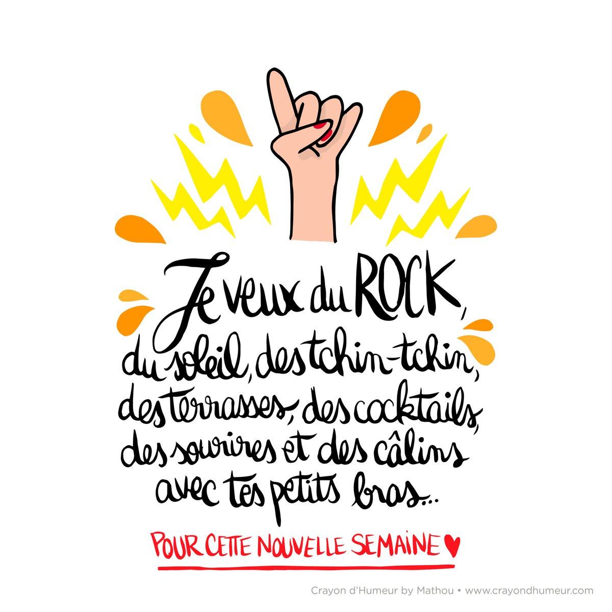 { C&#39;EST REPARTI } Joyeuse et belle semaine au soleil les bichons !  #mathou #crayondhumeur #remix #dessin #illustration #rock #soleil<br>http://pic.twitter.com/fTWcV3mDpq