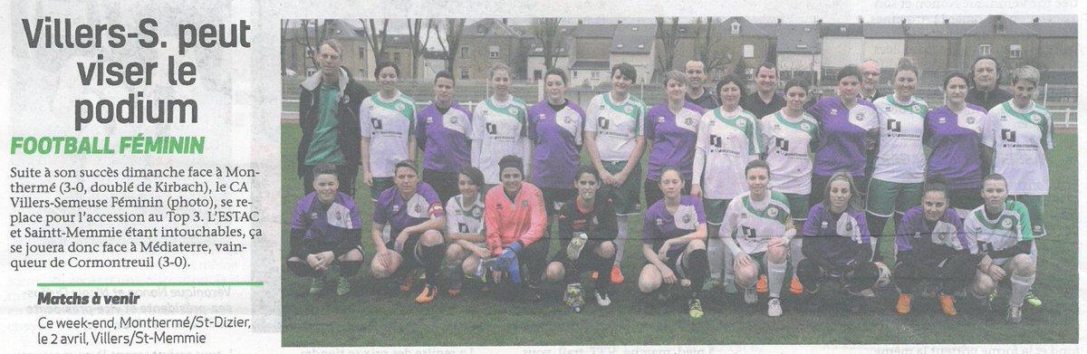 Le #Club #Athlétique Villers-Semeuse dans le journal La @SemaineArdennes du 23 avril 2017. #presse #presselocale #foot<br>http://pic.twitter.com/WoQgqgf5Cv