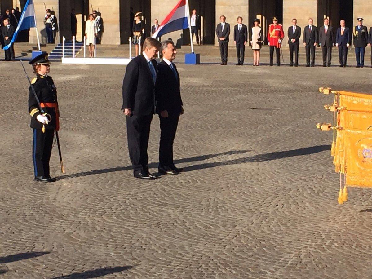 Официальный визит президента Аргентины в Нидерланды, день 1