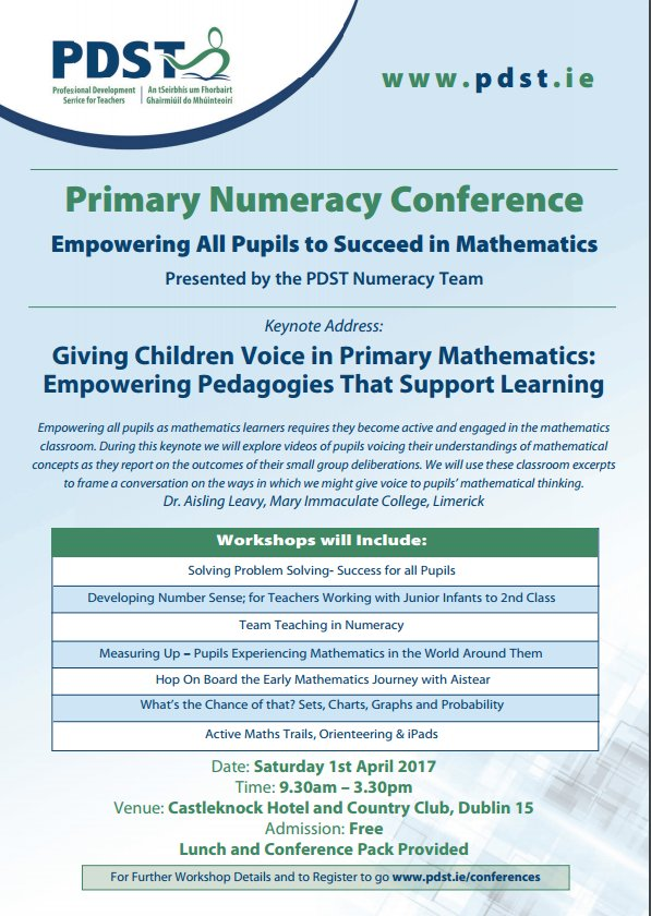 Media Tweets by PDST Numeracy (@PDSTNumeracy) | Twitter