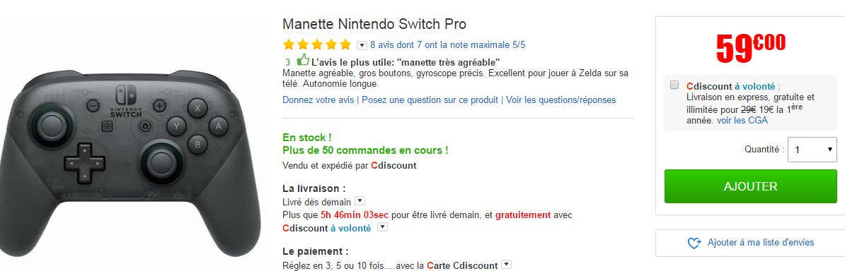 Carte Cdiscount Utile.Clubic Bons Plans On Twitter Bonplan La Manette Nintendo Switch
