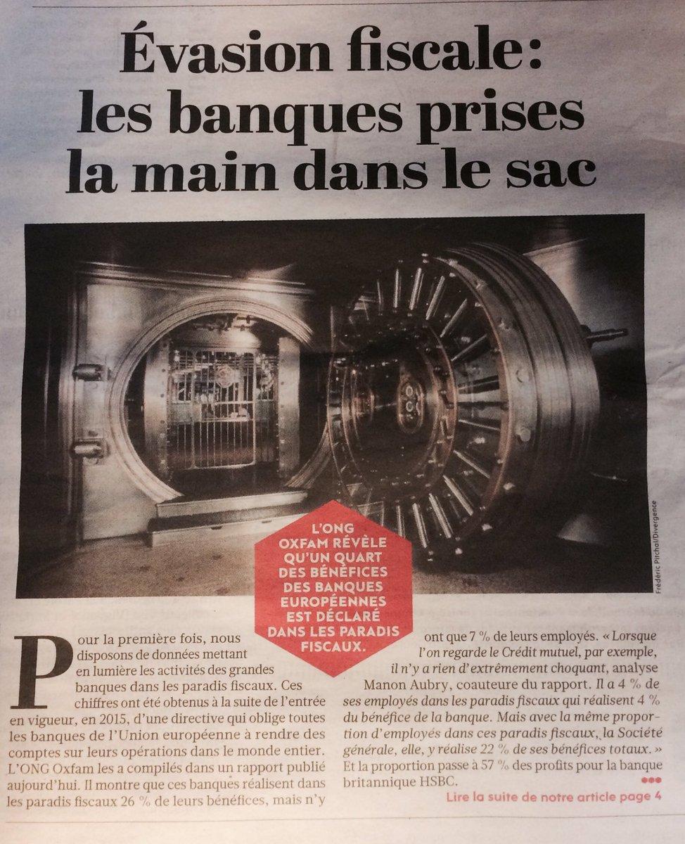 BNP, 134 mlls de bénéfices aux Îles Caïmans, 0 salarié. #EvasionFiscale. Les banques prises la main dans le sac. À lire dans l&#39;@humanite_fr<br>http://pic.twitter.com/9cpA27agy3