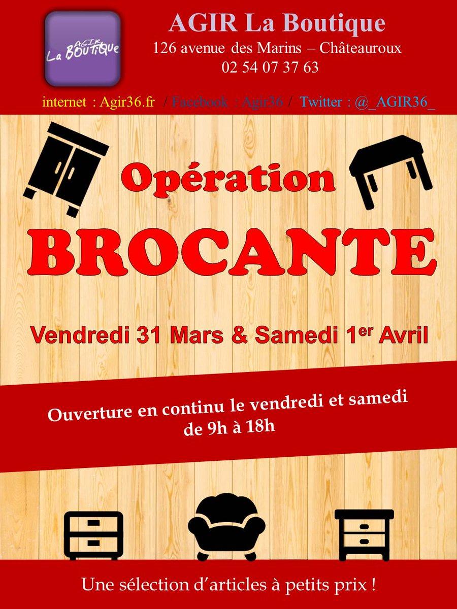 La Boutique solidaire @_AGIR36_ organise une Opération #brocante à #Chateauroux les 31 mars et 1er avril  http:// bit.ly/2nZslek  &nbsp;   #Indre<br>http://pic.twitter.com/PF78zOC7EQ