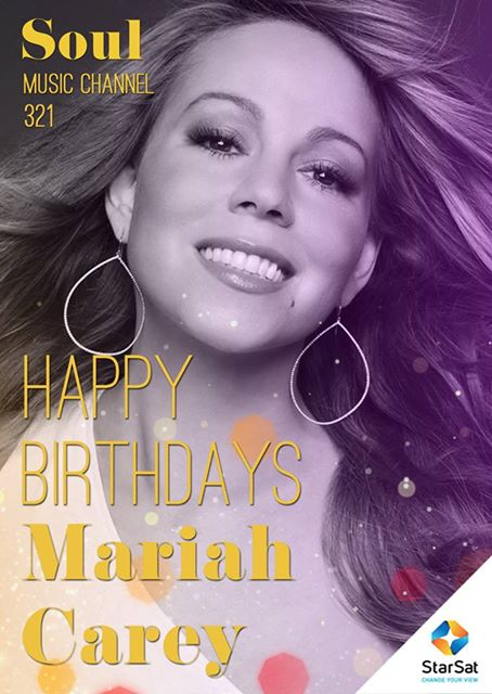 Happy Birthday to singer, songwriter, record producer, and actress Mariah Carey