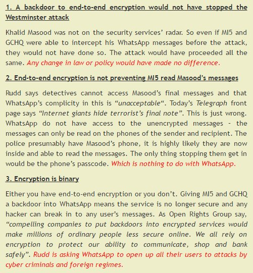 Why attacks on WhatsApp and encryption are a red herring: https://t.co...