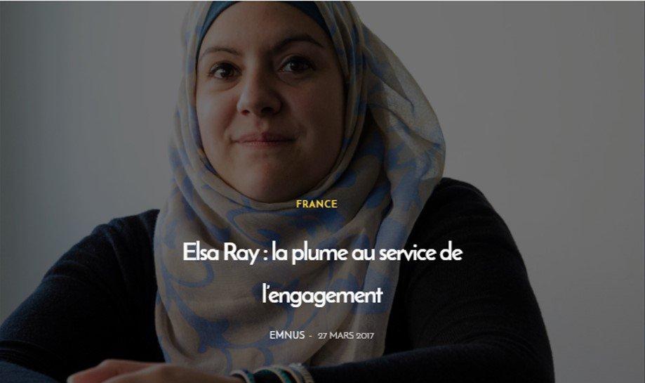 #Magazine Lundi c&#39;est inspiration chez #Lallab ac le #portrait de Elsa Ray &quot; la plume au service e l&#39;engagement&quot;  http://www. lallab.org/elsa-ray-la-pl ume-au-service-de-lengagement/ &nbsp; … <br>http://pic.twitter.com/t5UYhk6ZXf