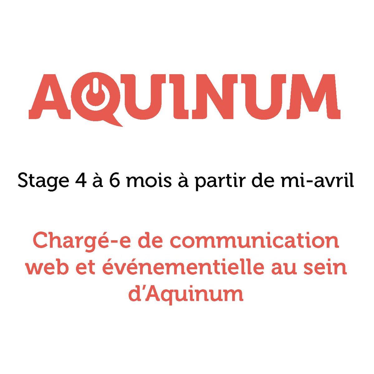 #stage Nous recherchons une pépite en #com #event #digital au sein d&#39;Aquinum ! Durée 4 à 6 mois à #Bordeaux -&gt;  http:// bit.ly/2ongnXW  &nbsp;  <br>http://pic.twitter.com/10a4XlWNys
