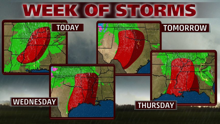 More storms likely all week, plus #Invest90L & Tropical Cyclone #D...