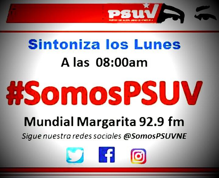 Infórmate hoy a las 0800HLV por Mundial Margarita 92.9 Escucha tu programa #SomosPSUV