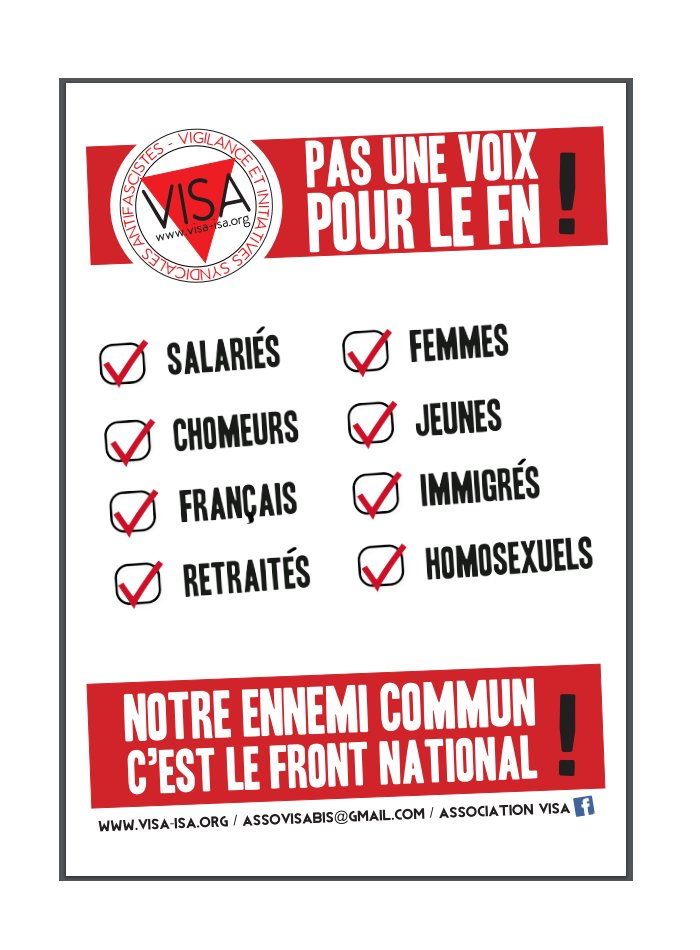 #FNNonMerci Signez l&#39;appel de #VISA « Pour l&#39;unité syndicale face à l&#39;extrême droite »  http://www. visa-isa.org/content/appel- de-visa-pour-l-unite-syndicale-face-l-extreme-droite-signatures-au-230317-et-propositi &nbsp; … <br>http://pic.twitter.com/iCnWCmud8F