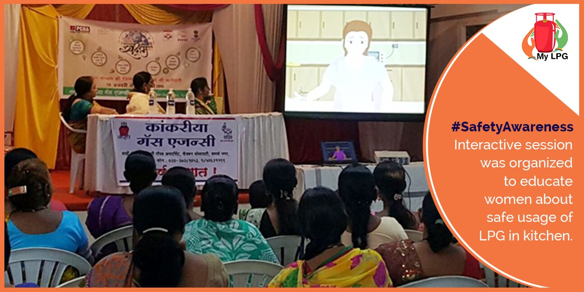 #SafetyCinics are held to educate women about safety measures while using #LPG in kitchen. #safetyfirst <br>http://pic.twitter.com/gI4L4rs9xM