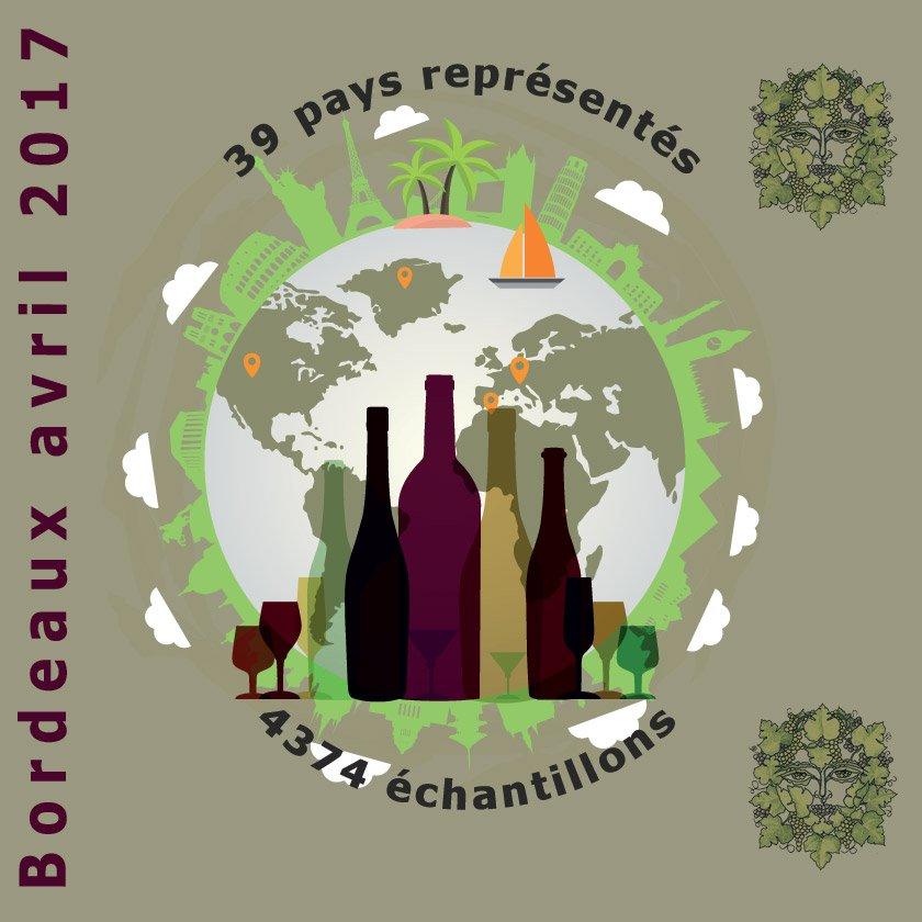 #ChallengeInternationalduVin #Bordeaux les 21&amp;22 avril 2017, plusieurs pays et échantillons se présentent à ce prestigieux concours #Vins <br>http://pic.twitter.com/o8xngXJBUC