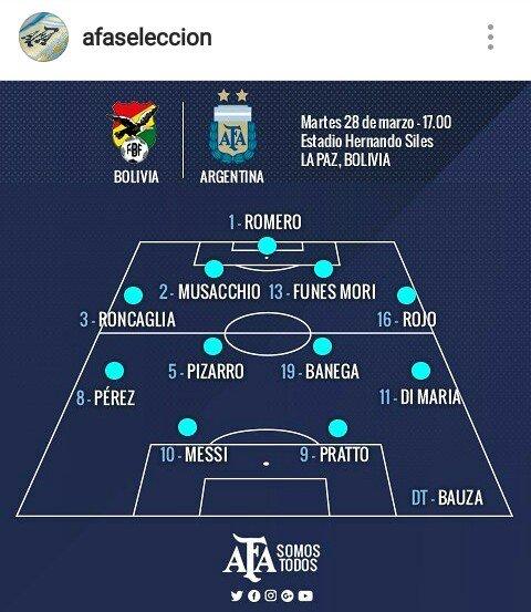Guido Pizarro será titular ante Bolivia. https://t.co/AZwK4bcms6