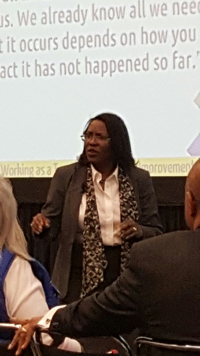 Dr. Tiffany Anderson, Supt. @TPS_501, helping open Equity Monday @ #NSBAConf. Her Rx: Relationships, Pedagogy, Standards-based Curriculum.