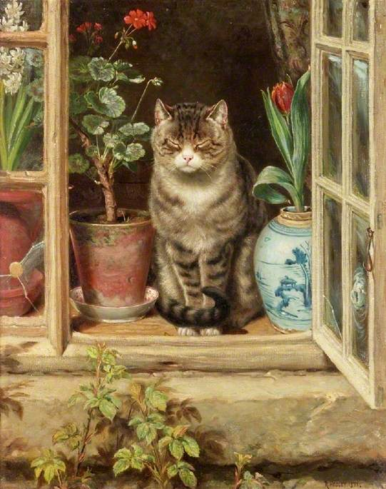 @CuratorialCats Love this Ralph Hedley cat from @LaingArtGallery Newcastle. #MewseumMonday